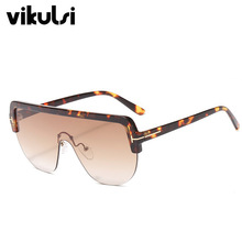 Oversized Sunglasses Women 2019 Luxury Brand Fashion Black Shield