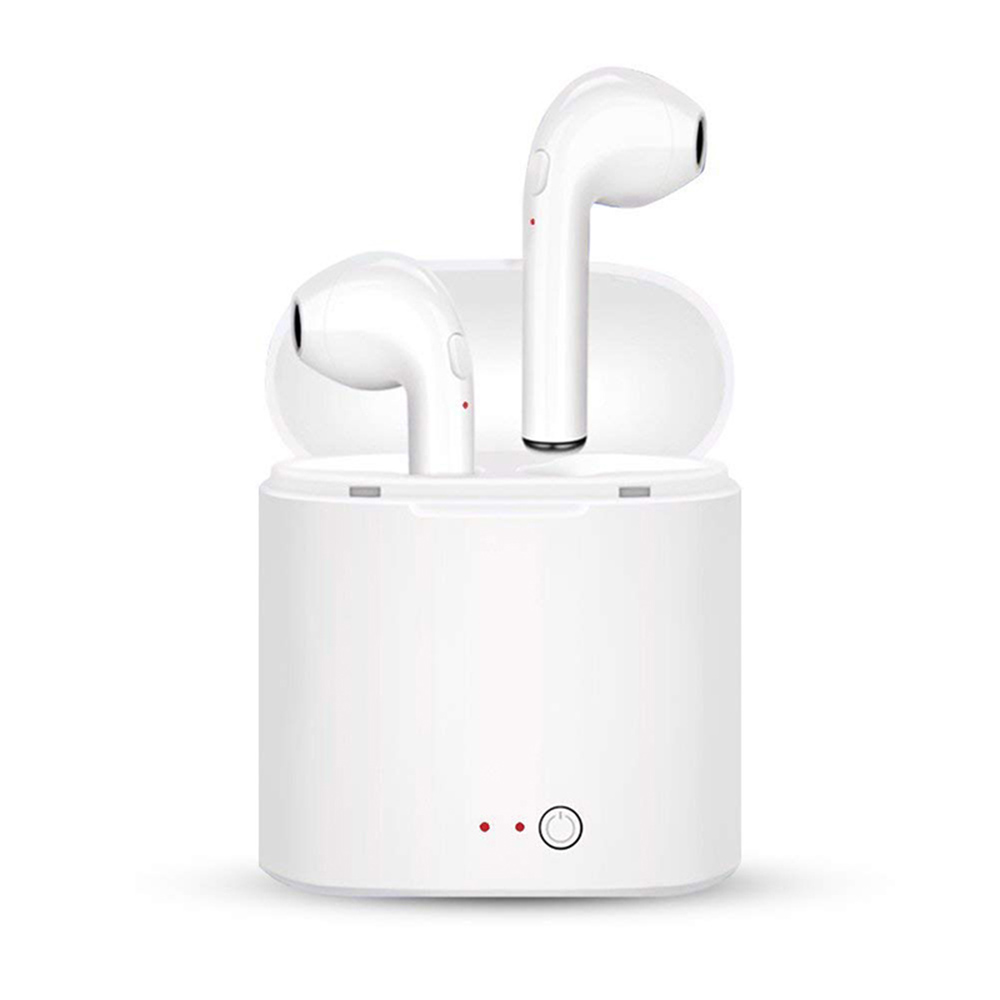 Neue i7S TWS Mini Bluetooth Kopfhörer Kopfhörer Stereo Bass Wireless Headset Ohrhörer mit Mic Lade Box für Alle smartphone