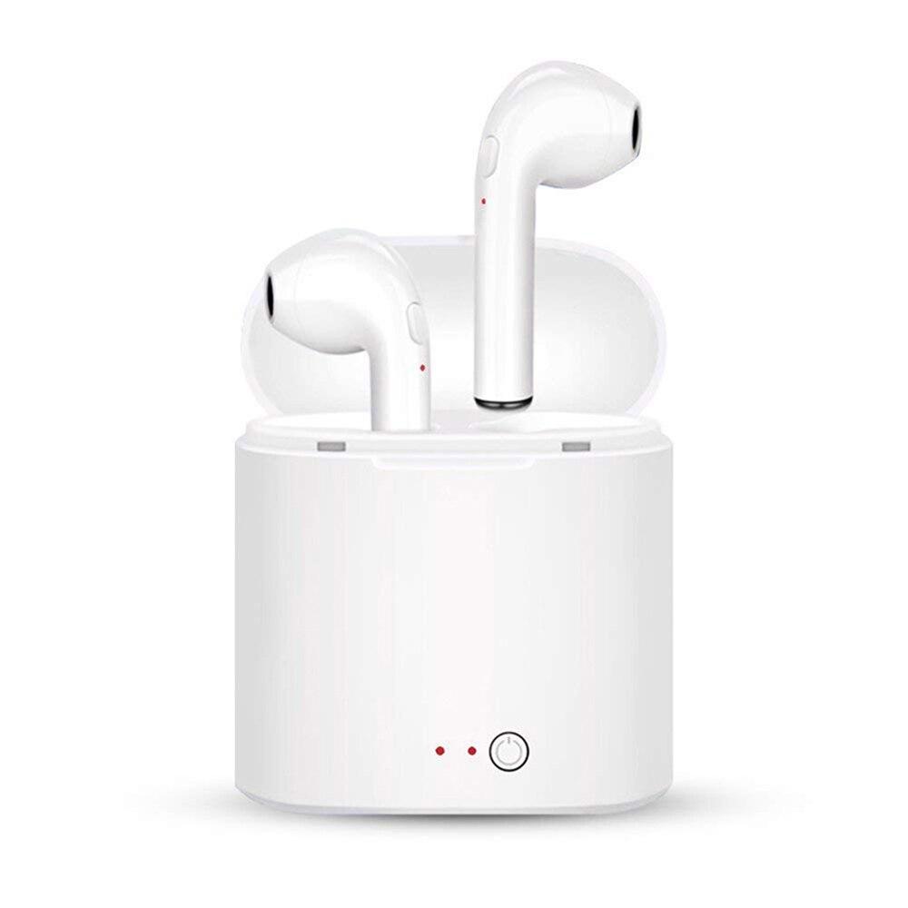 Nova i7S TWS Mini Fones de Ouvido Bluetooth Fones de Ouvido Estéreo Baixo Fones de Ouvido fone de Ouvido Sem Fio com Mic Caixa De Carregamento para Todos Os telefones Inteligentes