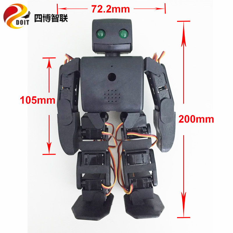 Wholesale 18dof humanoid robot compatible with plen2 for arduino diy plen 2 robotic teaching model kit no battery цена