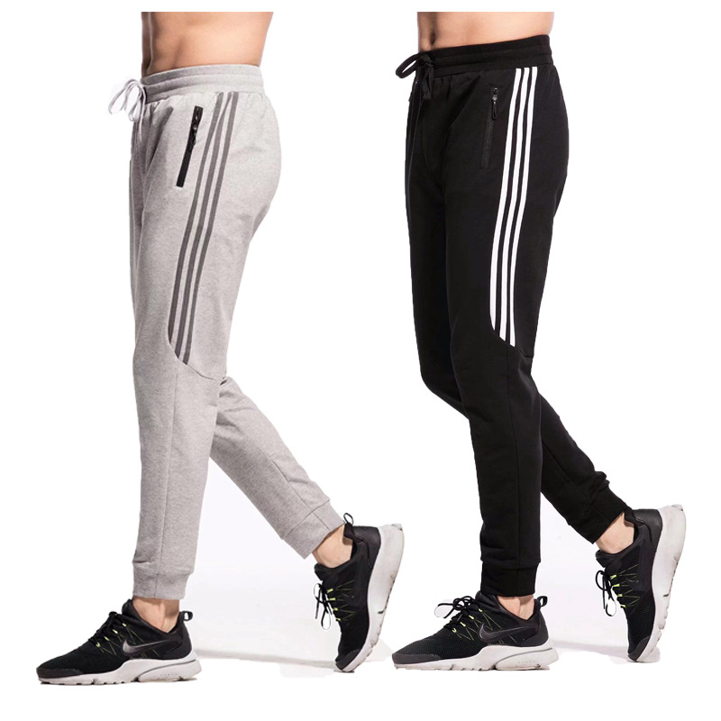 2019 New Fashion Tracksuit Bottoms Mens Casual Pants Outdoor Running Sweatpants Mens Joggers Striped Track Pants Pencil Pants