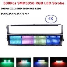 Light Music Running Horse Wall Wash 308X0.2W RGB LED Flashlight DMX512 Stage Strobe Dj Effect Party luces