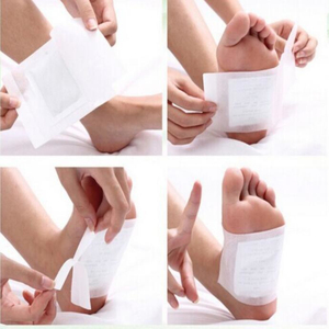Image 3 - 200pcs=(100pcs Patches+100pcs Adhesives) Kinoki Detox Foot Patches Pads Body Toxins Feet Slimming Cleansing HerbalAdhesive smrp