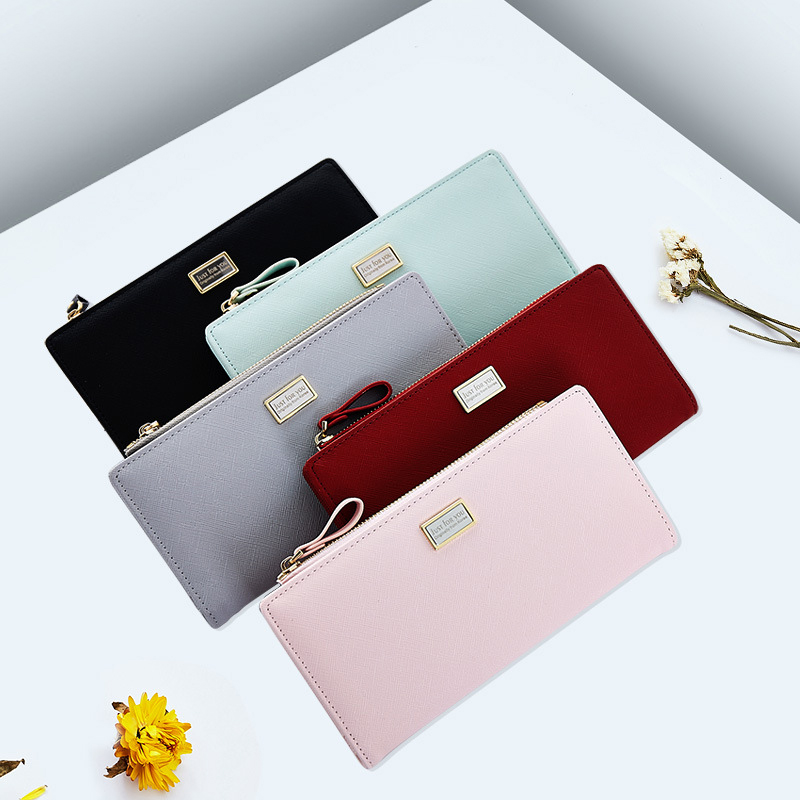 NEW Easy Matching Long Wallets Mini Card Holders Coins Purses Normcore Women Handbags Minimalist Ladies Zipper Clutch (JY1101-1)