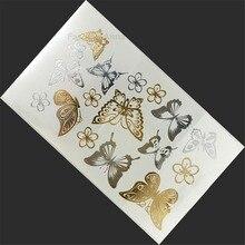 Design Bronzing Metalic Tattoo Sticker Body Paints For Men Women Stickers Tatuajes Dorados Temporary Tattoos