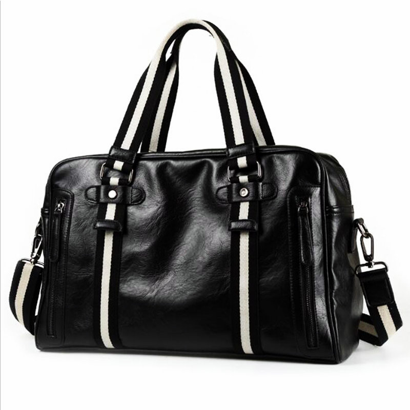 2018 Men New Style PU Gym Bags Large Capacity Man Training Handbag Outdoor Basketball Football Sport Crossbody Bag Travel Bags ...