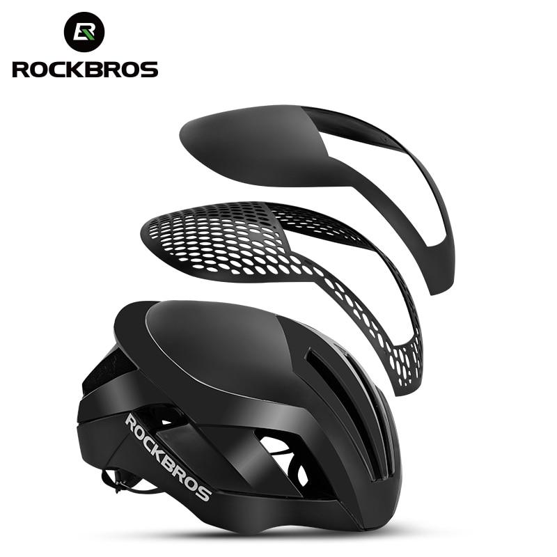 ROCKBROS 3 em 1 Ciclismo Da Bicicleta Capacete Da Bicicleta EPS Reflexivo MTB Capacete de Luz de Segurança Dos Homens de Bicicleta de Estrada Integralmente-Moldado Pneumático