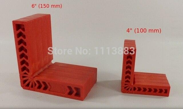 "Set van 4 STKS Vastklemmen Vierkante, hoge Sterkte Engineering Plastic, 4 ""(100mm) of 6"" (150mm) voor u kiezen"