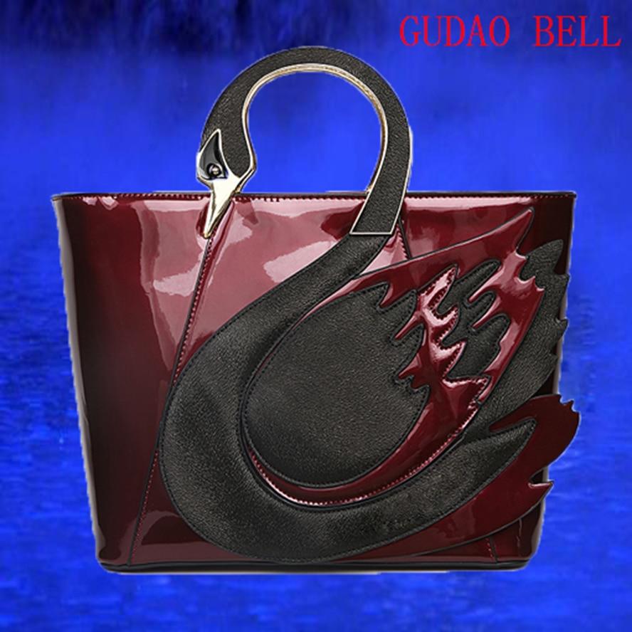 2017 Fashion Female Panelled Patch Swan Handbag Swan Shoulder Messenger Bag Large Capacity Shopping Bag Bolsa