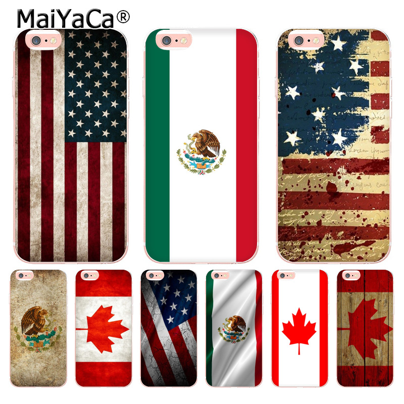 20251c0fdcc Aliexpress.com: Comprar MaiYaCa Canadá México Estados Unidos bandera funda  transparente para Apple iPhone 8 7 6 6 s Plus X 5 5S XS XR XSMAX de case  plus ...