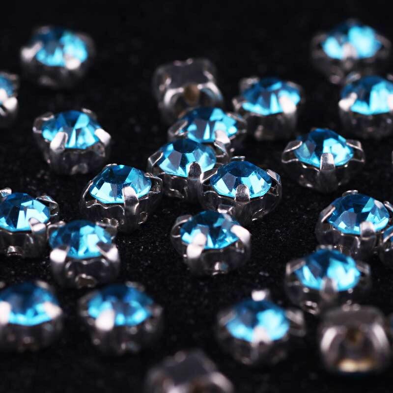 100pcs Rhinestones Strass Crystal Glass Rhinestones For Clothes DIY Accessories Sew on Rhinestone On Clothes Flatback Rhinestone in Rhinestones from Home Garden