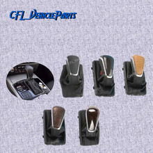 Black Carbon Fiber Wood Color Gear Shift Knob w/ Leather Boot Gaiter LHD AT ONLY 4QD713139 For Audi A6 C7 2016 2017 2018