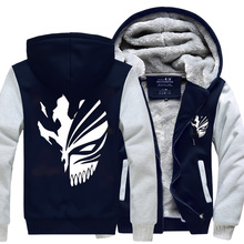 Trendy Jackets Anime Bleach Sweatshirts Winter Thicken Fashion Hoodies