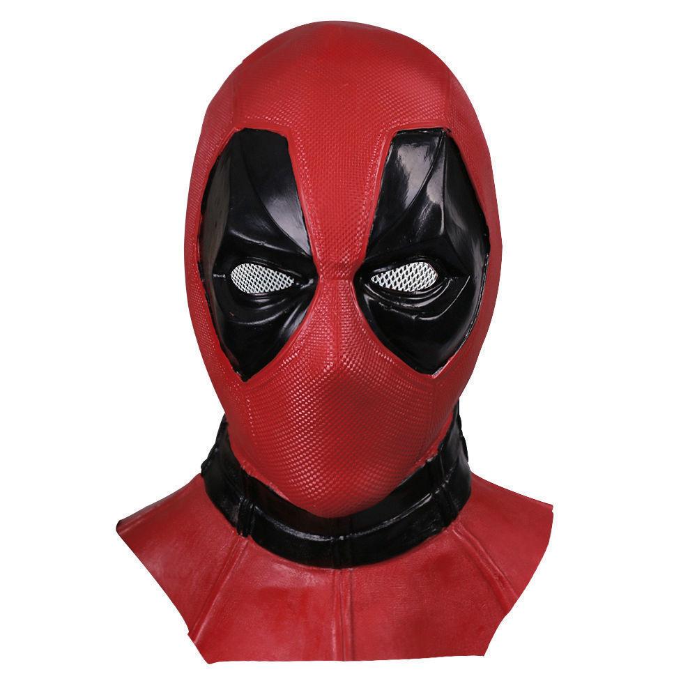 Movie Deluxe Adult Latex Deadpool Mask Cosplay Deadpool Full Face Helmet Handmade