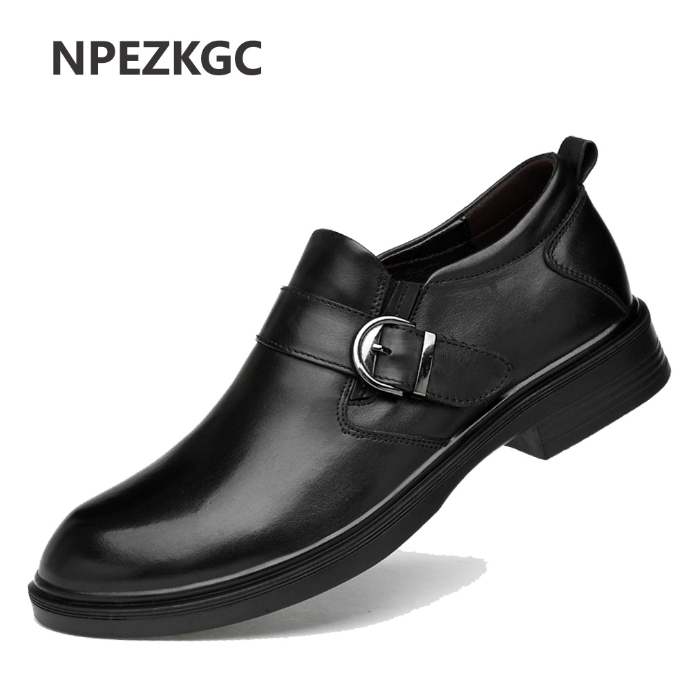 Men Shoes Spring Summer Formal Genuine Leather Business Casual Shoes Men Dress Office Luxury Shoes Male