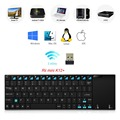 Nuevo Ultra-slim Original Rii mini Bluetooth y Aluminio K12 K12 + Qwerty Touchpad Sin Hilos Del Teclado PC Teclado para Tablet HTPC