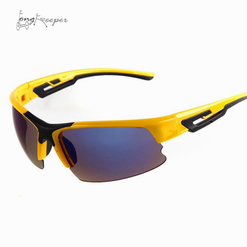 LongKeeper Mens Sport Sunglasses Semi Rimless Sun Glasses for Cycling Biking Men Women Outdside Bicycling Goggles