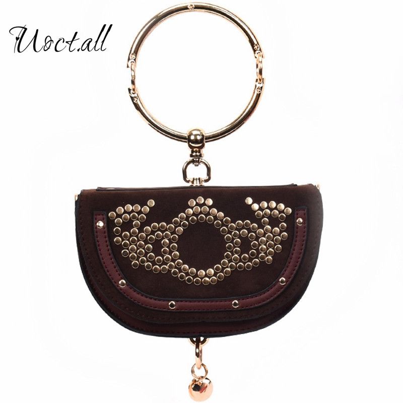 Original design 2017 new metal handle to the semi-circular dumplings package trend female semi-circular hand shoulder bag ...