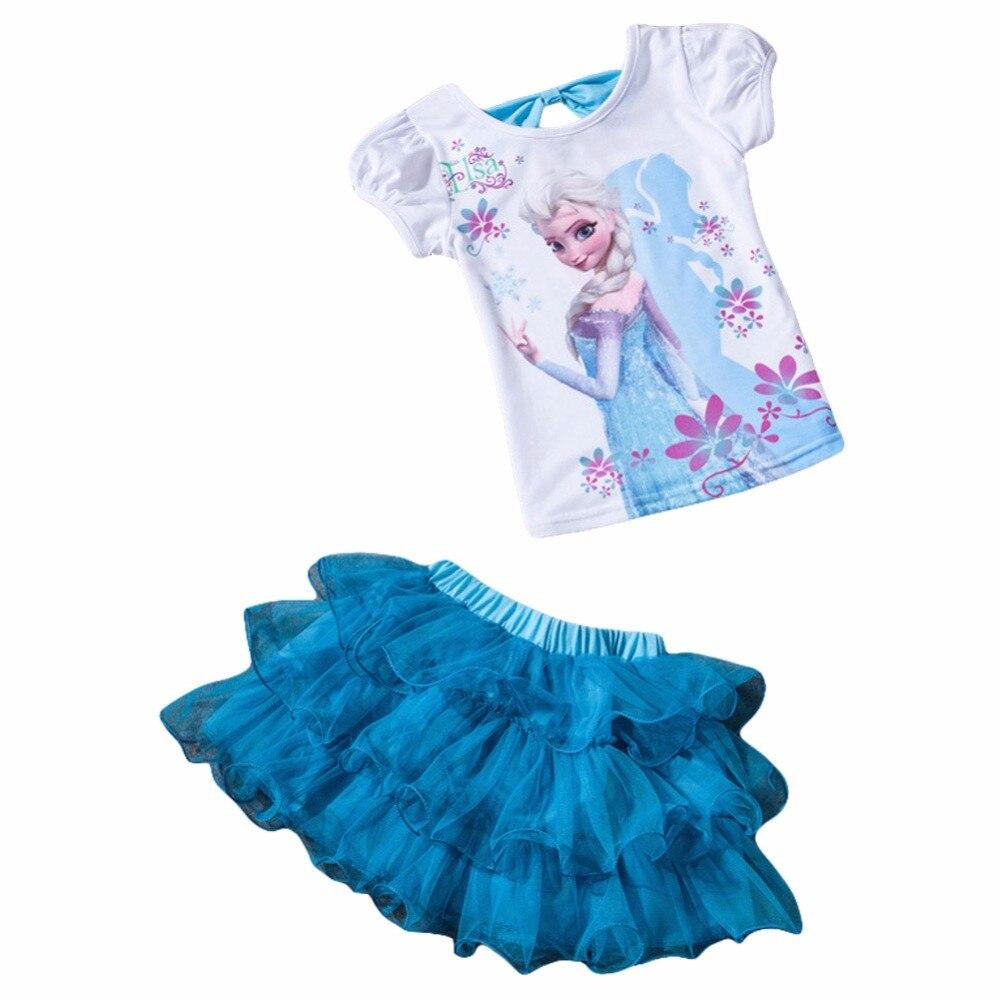 08506693b66 Children Clothing 2019 Summer Girls Clothes T-shirt+Skirt Kids Clothes Girl  Tracksuit Sport