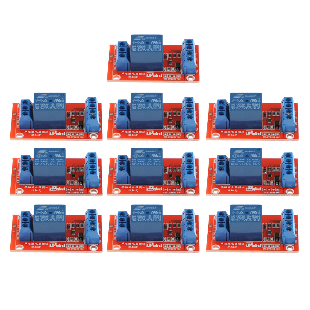 10 Piece 3V 1 Channel Relay Board Module Optocoupler LED for Arduino PIC ARM AVR dc 12v 8 channel relay module with optocoupler for arduino uno mega 2560 1280 arm pic avr