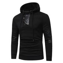 Kış Hoodie Erkek 2018 Yeni Uzun kollu hoodies erkekler Fermuar Kazak Hoodies Erkek Kapşonlu Artı boyutu Kaban Ceket
