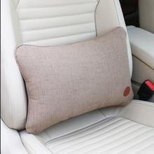 Soporte lumbar para asiento de coche, almohada de apoyo Lumbar para masaje de espalda, cubierta de coche, estilo General automotriz para oficina y hogar