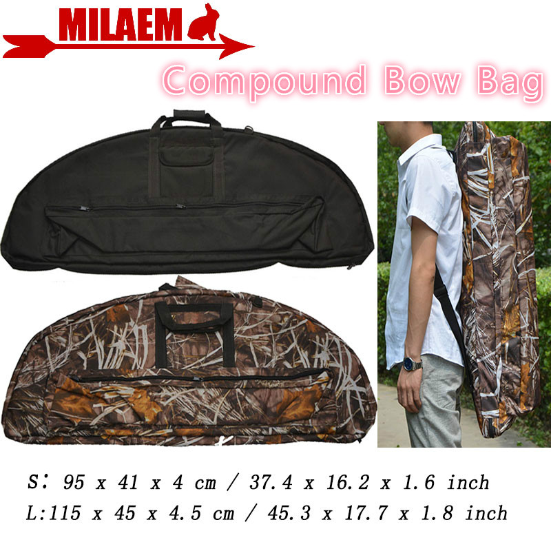 1pc Archery Compound Bow Bag Durable Case Installable Arrow Quiver Protect  Bow And Arrow Outdoor Hunting Shooting Accessories