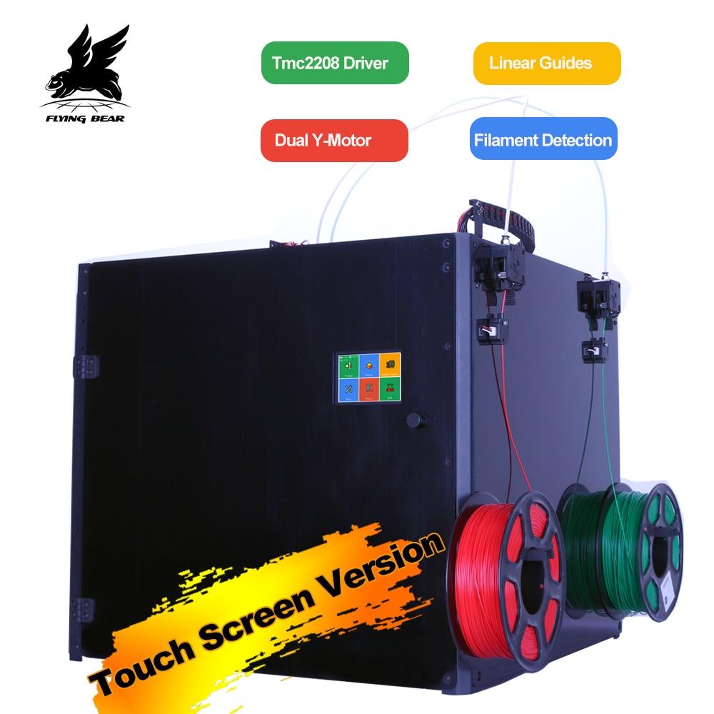 Voando Urso Tornado 2 Pro grande Impressora 3d DIY Full metal trilho Linear Kit impressora 3d de Alta Qualidade de Precisão dupla extrusora