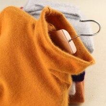 スーパー暖かいミンクカシミアソフトタートルネックセーターやプルオーバー女性の秋の冬のフリースの毛皮女性ブランドジャンパー