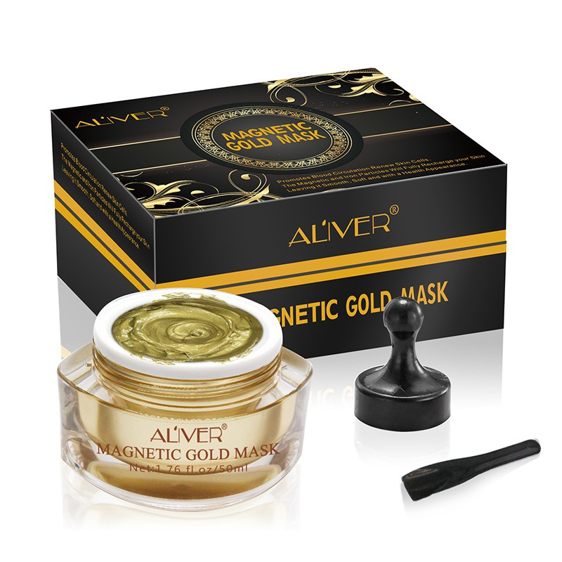 Magnetic Gold Mask Dead Sea Mud Magnet Suck Face Brightens Biological Mud Mask Face Firming Moisture Blackhead Removal Mask