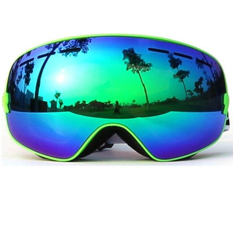 Prix pour 2016 Nouvelle marque professionnel ski lunettes 2 double lentille anti-brouillard UV400 grand sphérique ski lunettes de ski hommes femmes lunettes de neige ensemble