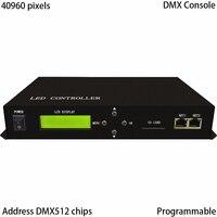 LED контроллер, полноцветный, поддержка DMX консоли, 2 порта Drive Max 40960 пикселей, поддержка DMX512, WS2811, WS2812, LPD6803, и т. д.