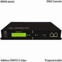 LED controller,full color,support DMX console,2 ports drive max 40960 pixels,support DMX512,WS2811,WS2812,LPD6803,etc