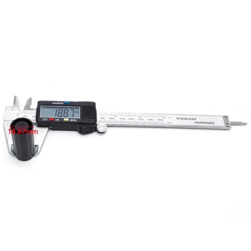 6 150mm Électronique Numérique Vernier Caliper Micromètre Jauge Widescreen En Acier Au Carbone L15