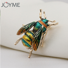 Fashion Cute Bee Black Yellow Enamel Insect Brooches For Women Kids Animal Brooch Jewelry Hijab Pins Party Gifts Accessories