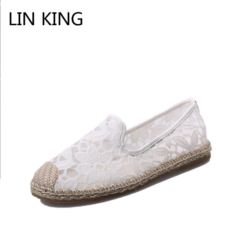 LIN KING New Fashion Women Flats Shoes Casual Slip On Lazy Shoes Round Toe Solid Loafers Spring Autumn Breathable Casual Shoes lin king fashion pu leather women flats shoes round toe loafers comfortable slip on casual shoes solid breathable girl lazy shoe