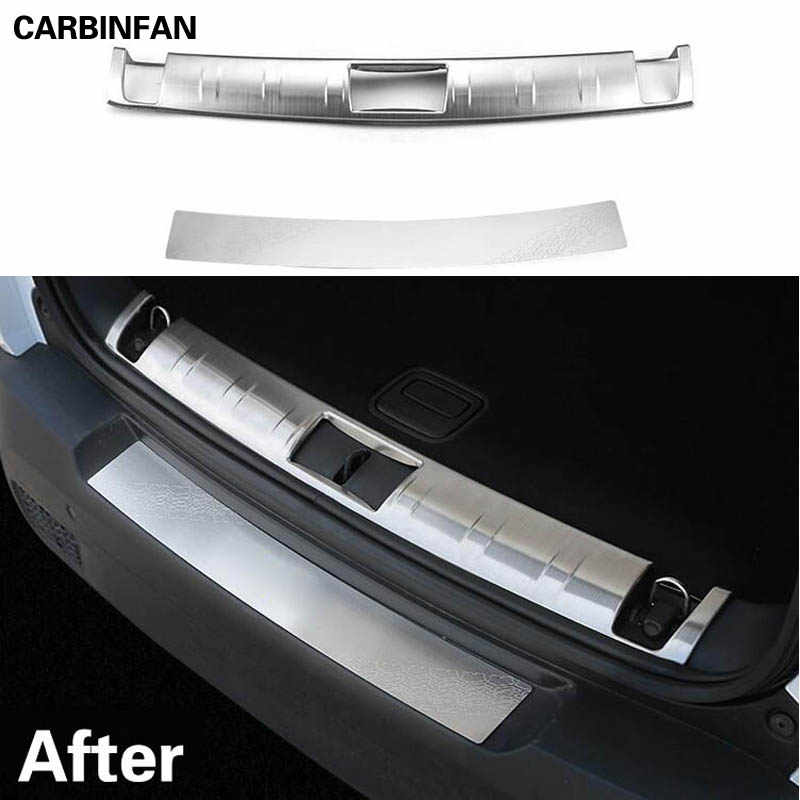 Car Styling Stainless Steel Rear Trunk Protect Door Sill Guard Decoration Trim Cover For Jeep Renegade 2015 Up