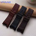 Genuine Leather strap Black watchband 32*17mm accessories Wrist watch band for dress quartz watches fashion men