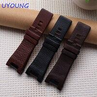 Genuine Leather Strap Black Watchband 32 17mm Accessories Wrist Watch Band For Dress Quartz Watches Fashion