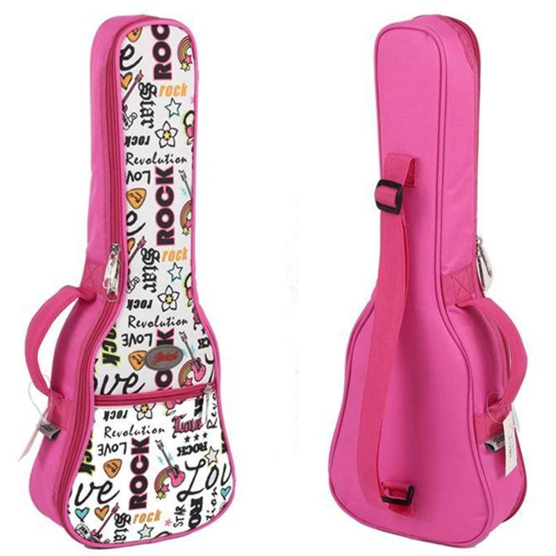 "21 ""23 24"" 26 Zoll Konzert Sopran Tenor Ukulele Akustische Gitarre Tasche Fall Paket Lanikai Luna Mahalo Lanikai Ukes Gig Weichen Rosa"