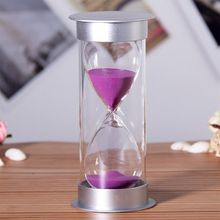 5 Minutes Hourglass Purple Sand Timer Clock Creative Desk Ornaments Kitchen Home Decoration Children Gift