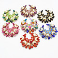 New Arrival Hot Selling Purple Crystals Flower Wedding Bouquet Brooch Gold Tone Purple blue colorful red green pink black brooch