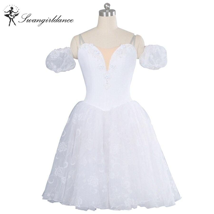 Adulte blanc swan lake ballet romantique tutu robe filles giselle ballet costume pour vente femmes professionnel tutu robe BT8901