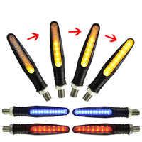 2/4PCS Motorcycle Turn Signals Light Flowing Water Blinker Lamp Motorbike Indicator Tail Flasher Motorcycle Led Light