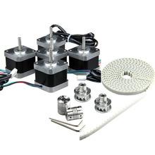 5PCS Driver Stepper Motor Nema 42SHD0217-24B 1.5A(U) + 2M T5 Timing Belt+2PCS T5-12 Tooth Pulleys+Z Axis Coupler+Allen key