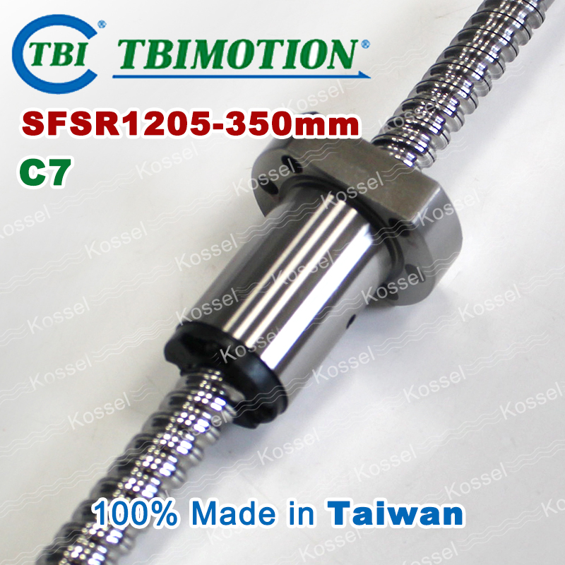 TBI ballscrew 1205 C7 350mm with SFS ball nut SFS1205 + end machined for high stability CNC kit set tbi dfi 2505 600mm ball screw milled ballscrew and end machined for high stability linear cnc diy kit