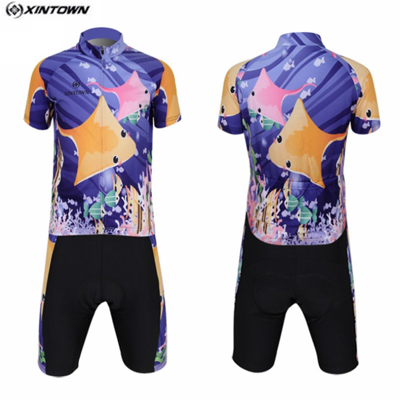 Hot XINTOWN Kids Bike Jersey or Cycling Shorts Purple Children Cycling Clothing Team Bicycle ciclismo Boys mtb Shirts Top children s bicycle kids balance bike ride on toys for kids four wheels child bicycle carbon steel bike for children 1 2 years