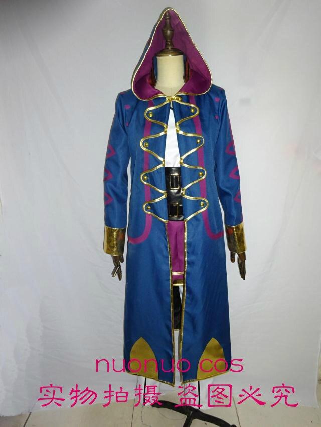 Emblème de feu: eveil Robin Cosplay Costume tenue Top + pantalon + ceinture + Long manteau toute taille