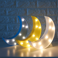 The Moon Modelling Fairy Night Light ABS Plastic Led Table Desk Lamp Bedroom Atmosphere Wedding Decoration