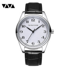 VA VA VOOM	Mens Watches To Luxury Brand Men Leather Sports Watches Men's Quartz Clock Waterproof Military Wrist Watch VA-203 цена